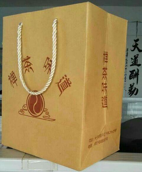 郑州qy288千赢国际♨牛皮茶叶手提袋